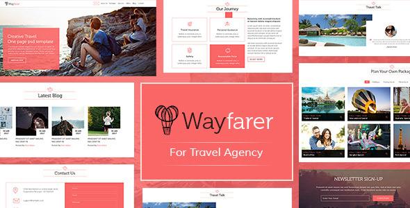 WayFarer Onepage Travel PSD Template - Travel Retail TFx Damian Ozzy