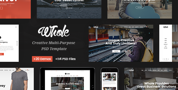 Whole – Responsive Business Multi-Purpose PSD Template – Business Corporate TFx Jimmy Takahiro