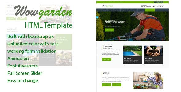 Wow-garden Responsive HTML Template - Site Templates  TFx Kurou Alan