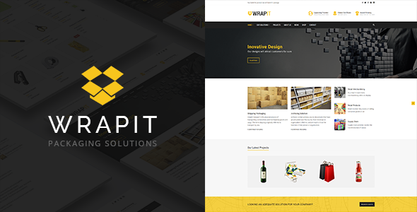 WrapIt - Packaging Company WordPress Theme - Business Corporate TFx Cy Damon
