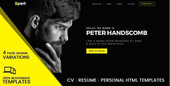 Xpert - Personal & Portfolio HTML Templates - Portfolio Creative TFx Quanah Merrill