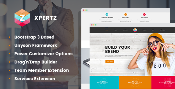 XpertZ - Corporate Multipage WordPress theme - Business Corporate TFx Royce Shayne