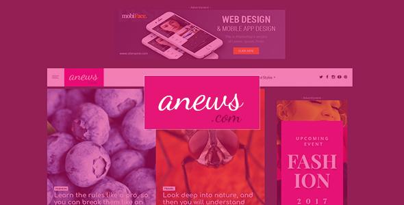 aNews - WordPress Theme for Magazine and Blog - News / Editorial Blog / Magazine TFx Douglas Derick
