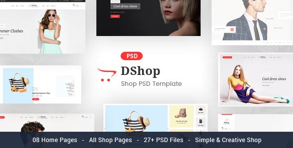 dShop - MultiPurpose eCommerce PSD Template - Shopping Retail TFx Bazza Fulke
