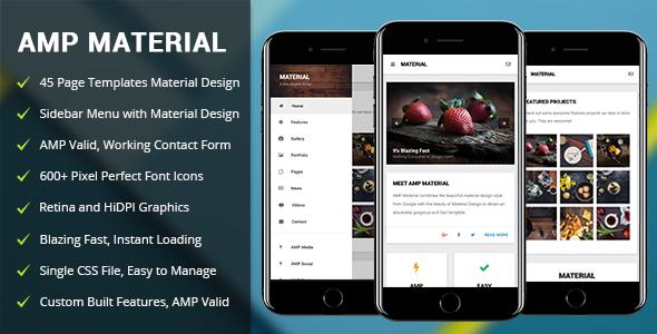 AMP Material | Mobile Google AMP Template            TFx Callahan Roscoe