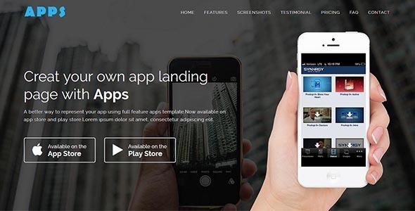 APPS - Responsive App Landing WordPress Theme            TFx Ellery Yorick