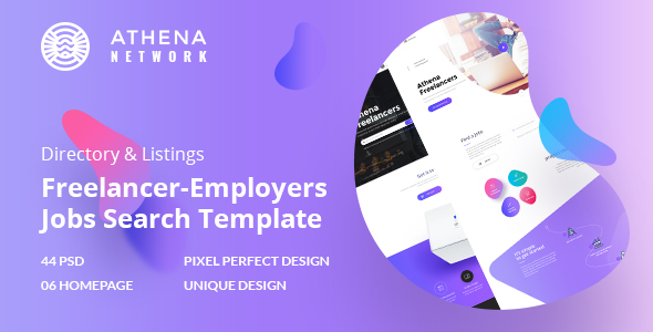 ATHENA - Freelancer and Employers Jobs Search Template - Corporate PSD Templates TFx Emery Vinny