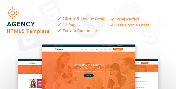 Agency - HTML5 Template - Corporate Site Templates TFx Griffin Kelly