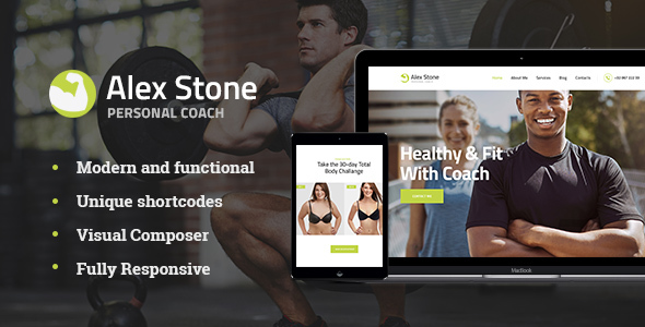 Alex Stone | Personal Gym Trainer Theme            TFx Charley Anson