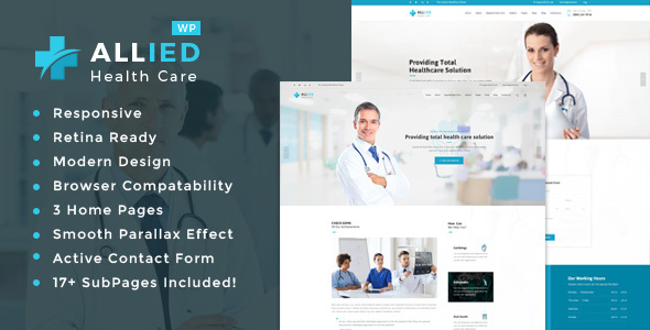 Allied Health Care - Health And Medical WordPress Theme - Health & Beauty Retail TFx Sid Richie