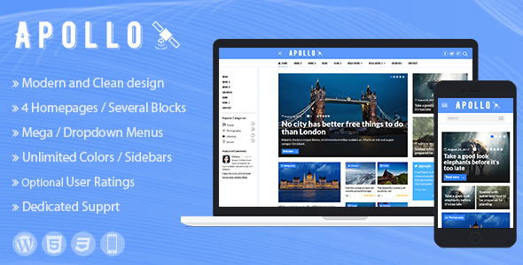 Apollo - WordPress News and Magazine Theme            TFx Harry Nolan
