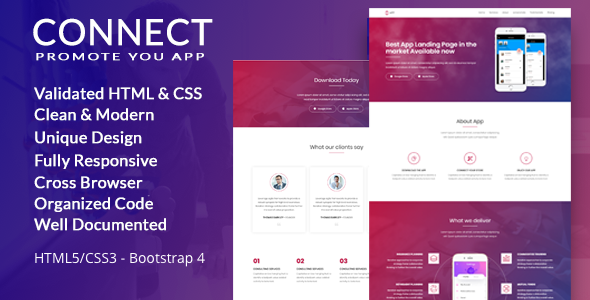 App - Connect App Landing Page - Landing Pages Marketing TFx Dudley Irwin