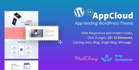 AppCloud WordPress Landing Page Theme - Technology WordPress TFx Mason Devon