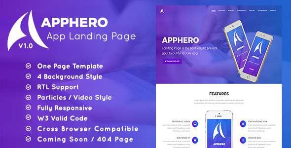 AppHero – App Landing Page            TFx Juro Steven