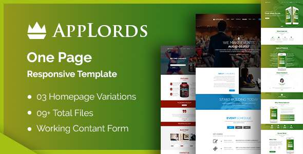 AppLords: One Page Multipurpose Responsive HTML Template            TFx Paulie Dillan
