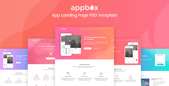 Appbox - App Landing Page PSD Template            TFx Carver Philip