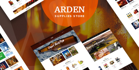 Arden - Brewery Supplies Store WordPress Theme            TFx Gerald Royale