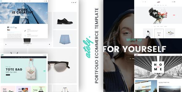 Ately - Portfolio & eCommerce HTML Template            TFx Lyall Iskandar