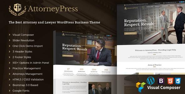 AttorneyPress | Law Agency WordPress Theme - Business Corporate TFx Isi Deforrest