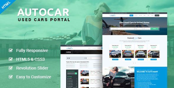 AutoCar – Online Used Cars Template            TFx Cullen Sebastian