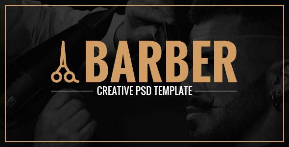 Barber - A Creative Landing Page PSD            TFx Ray Ozzy
