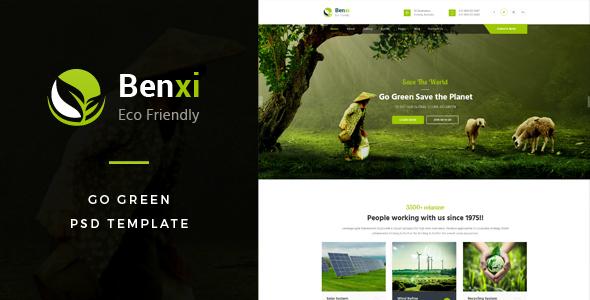 Benxi : Go Green PSD Template            TFx Wilton Roydon