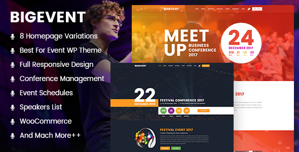 BigEvent- Conference WordPress Theme            TFx Hideki Deon