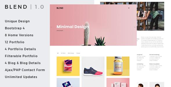 Blend - Clean & Creative Minimal Portfolio & Agency HTML Template            TFx Willoughby Keegan