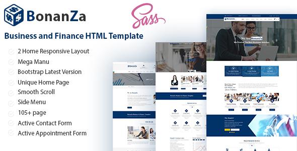 BonaZa - Business and Finance HTML Template            TFx Baldwin Alvin