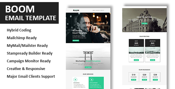 Boom – Multipurpose Responsive Email Template With Online StampReady Builder Access            TFx Conway Kiefer