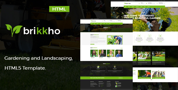 Brikkho- Garden and Landscaping HTML5 Template. - Business Corporate TFx Luke Konnor