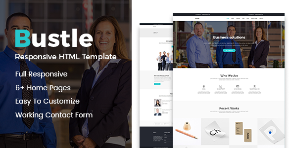 Bustle – Corporate HTML Template            TFx Louis Read
