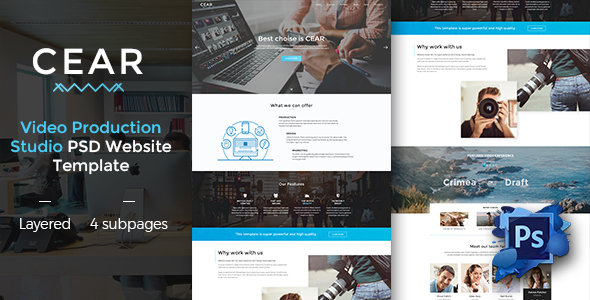 CEAR – Video Production Website PSD Template            TFx Mat Stacey