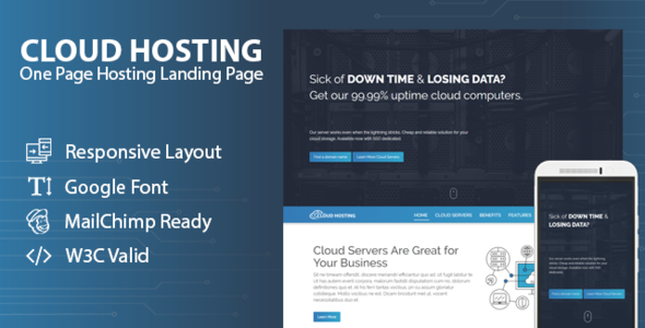 CLOUD HOSTING - One Page Hosting Landing Page            TFx Yuuto Micheal