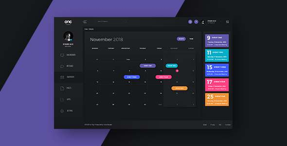 Calendar Interface - One Dashboard            TFx Andrew Pancras