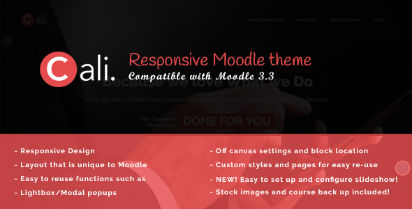 Cali - A Fresh Moodle Theme - Corporate Moodle TFx Issac Bryon