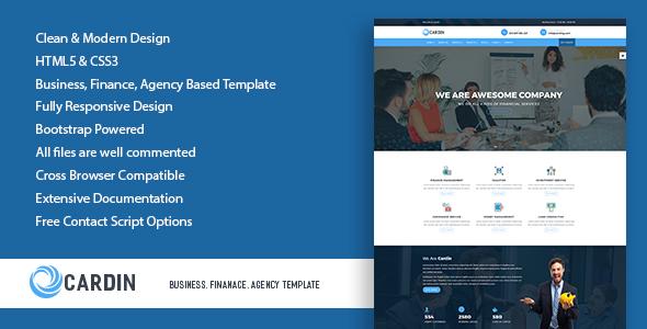 Cardin - Business, Finanace, Agency Template            TFx Malik Kimball
