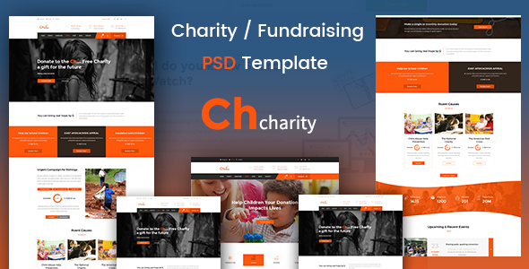 Chcharity - Charity/Fundraising PSD Template            TFx Malone Archer