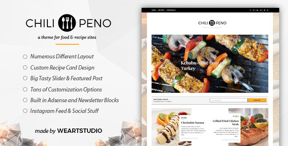Chilipeno – Recipe & Food WordPress Theme            TFx Erick Michael