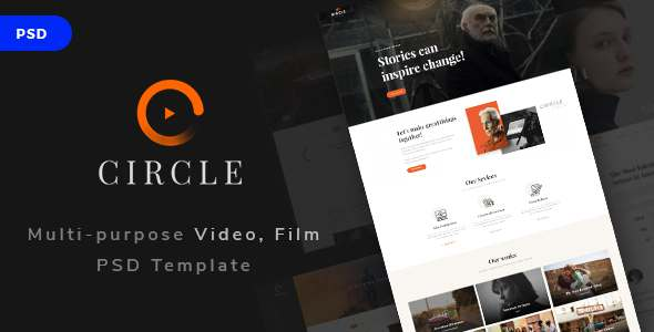 Circle - Multi-purpose Video, Film PSD Template - Creative PSD Templates TFx Darryl Rhett