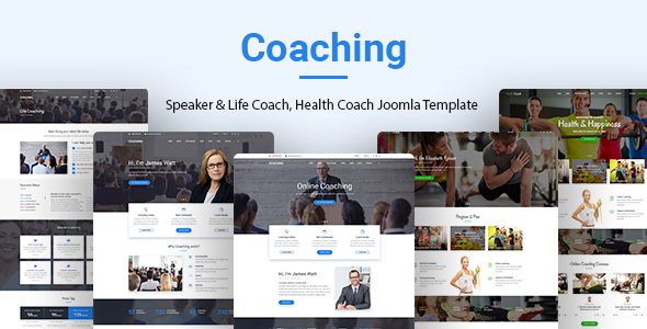 Coaching | Speaker, Life Coach, Health Coach Joomla Template            TFx Xavior Toby
