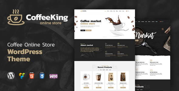 CoffeeKing- Coffee Shop and Online Store WordPress Theme - Food Retail TFx Kenny Juvenal