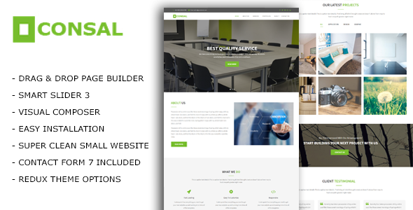 Consal - Corporate Business Agency Wordpress Theme           TFx Bill Webster