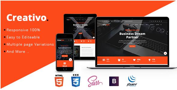 Creative - Creative & Corporate HTML5 Template            TFx Geffrey Raine