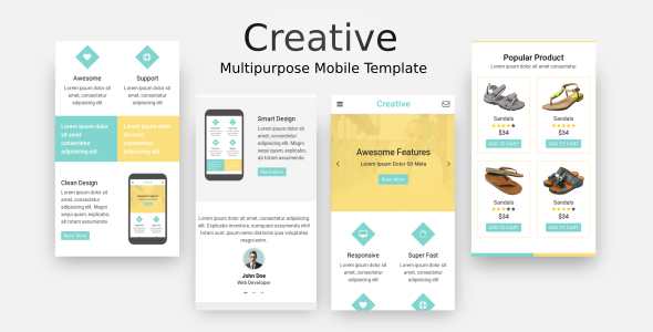 Creative - Multi-Purpose Mobile Template            TFx Quentin Colby