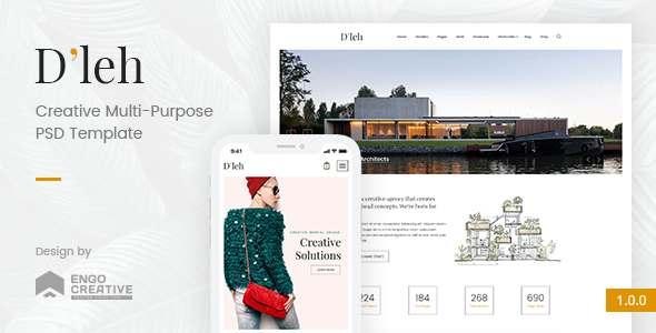 D'leh - Creative Multi-Purpose PSD Template            TFx Delano Timmy