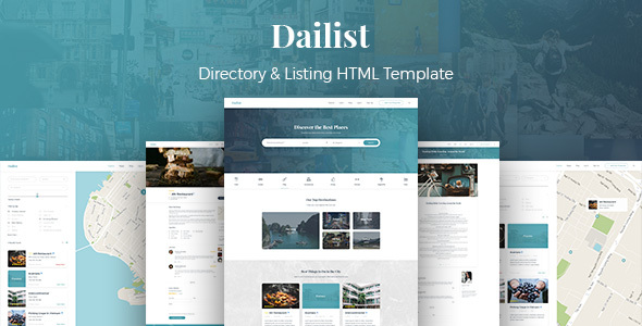 Dailist - Directory & Listing HTML Template            TFx Kevin Dayton