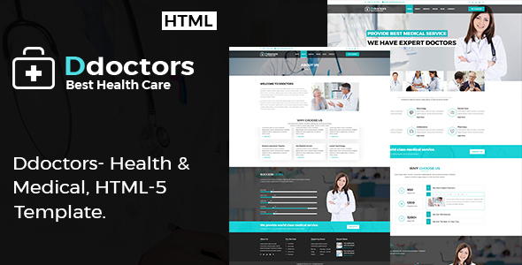 Ddoctors - Health And Medical HTML Template.            TFx Freeman Floyd