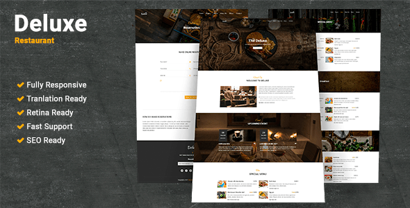 Deluxe Restaurant WordPress Theme            TFx York Gabby