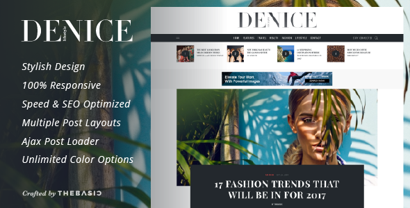 Denice - A Responsive WordPress Blog Theme            TFx Cherokee Page